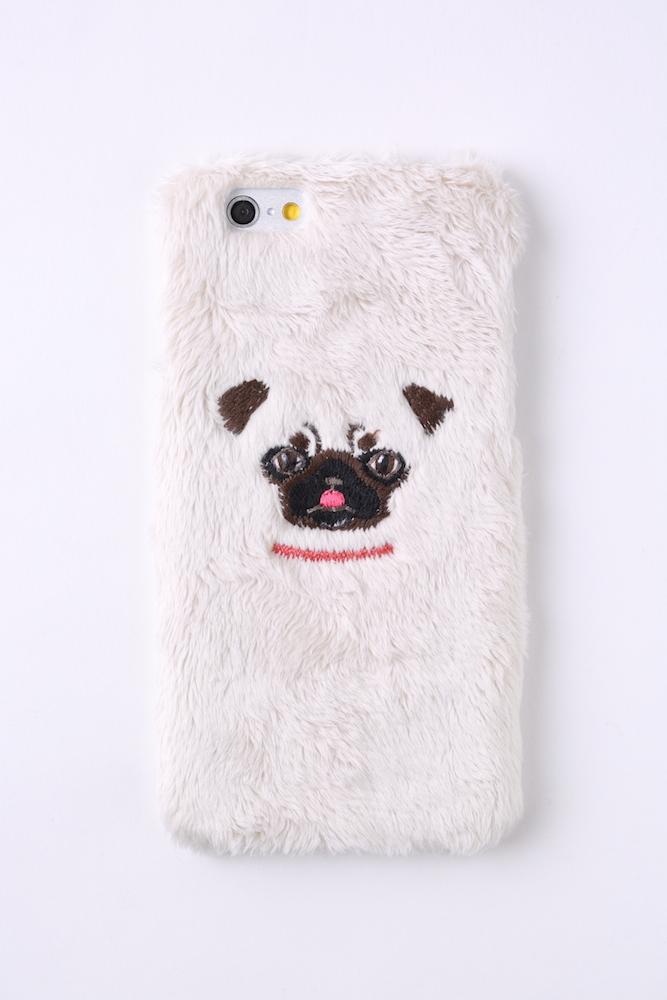 【iPhone6/6S専用】パグiPhone6/6sハードケース【ベージュ】