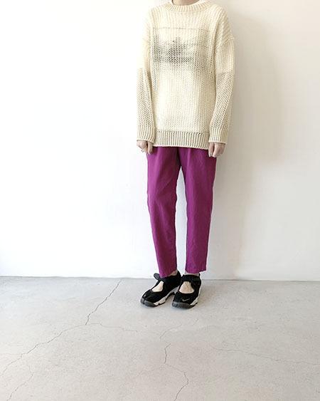 silk&cotton-twilltrousers / unfil