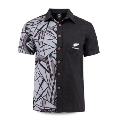 All BLACKS 2019 Aloha shirt Tribal Black