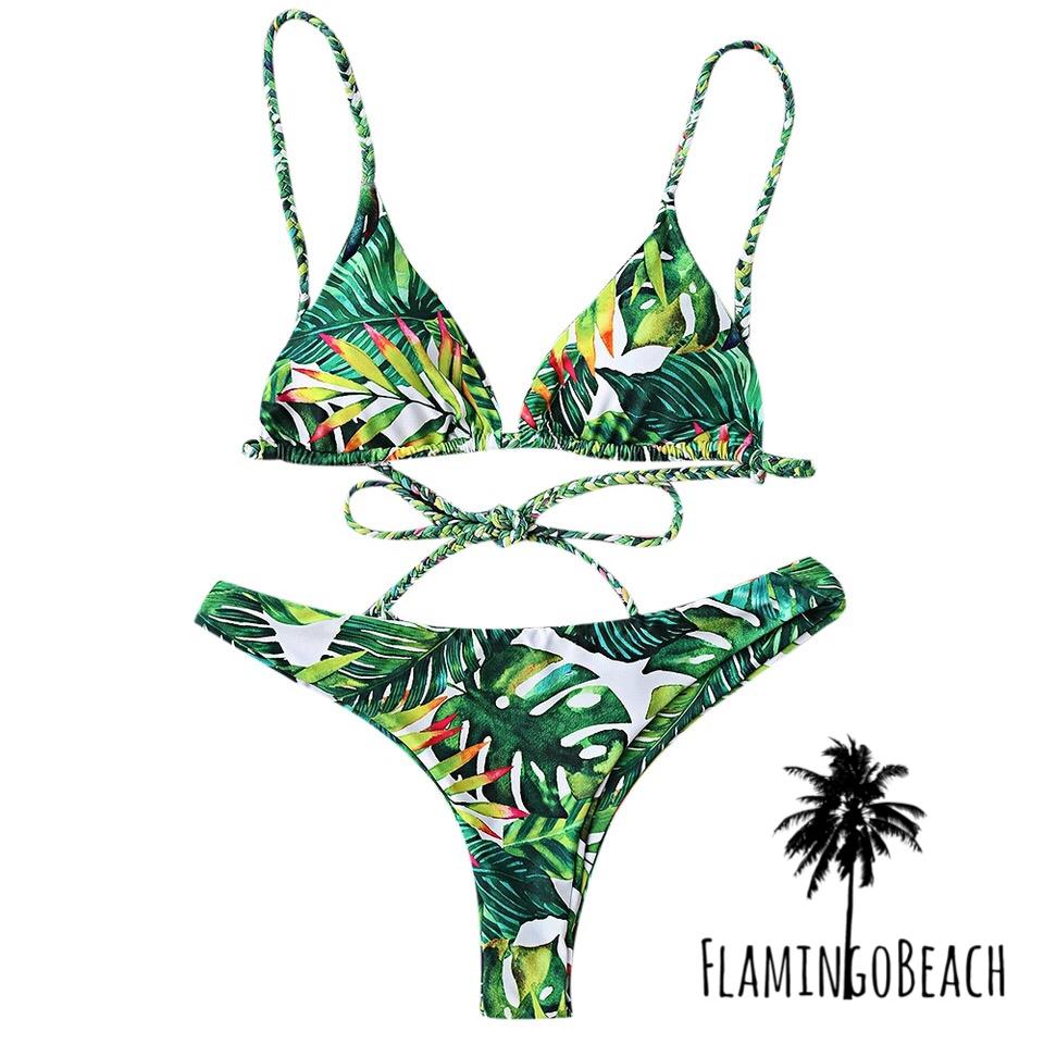即納 S【FlamingoBeach】toropical bikini