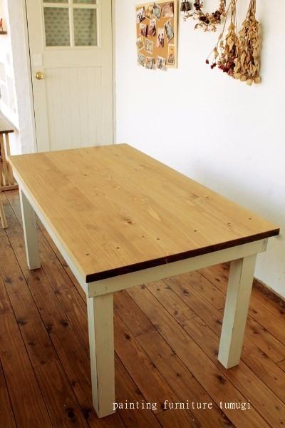 ナチュラルスタイル シャビーテーブル