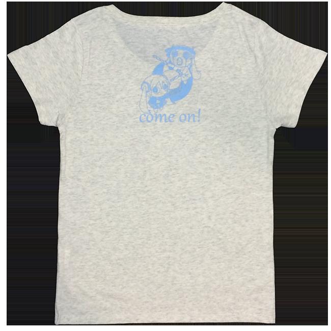 「ピノキオピー2015年祭りだヘイカモン」Tシャツ(レディース/オートミール) - 画像2