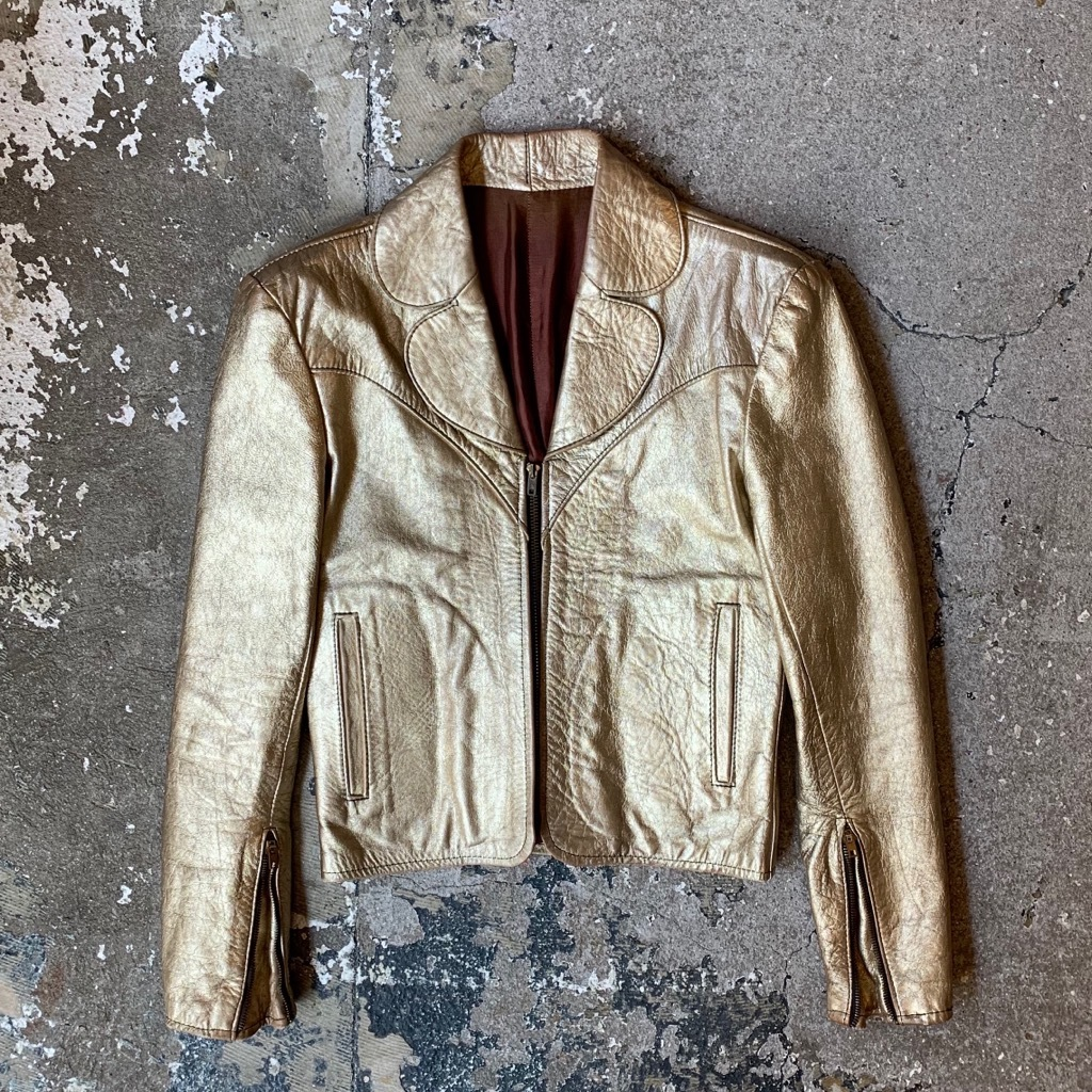 70's Gold Leather jacket