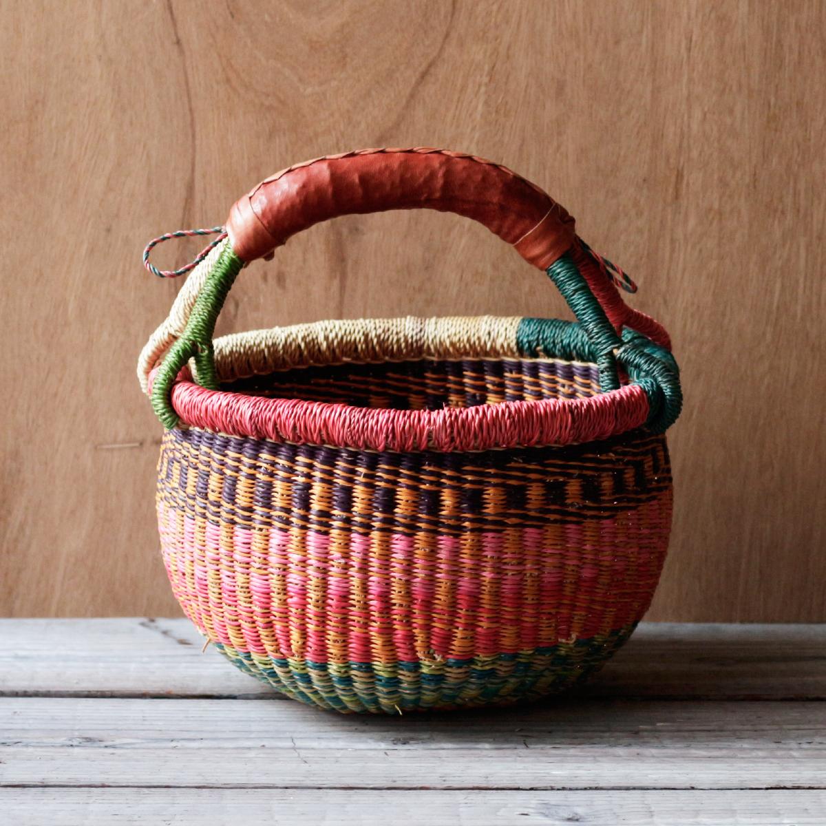 ガーナの手編み ボルガバスケット / 小 L