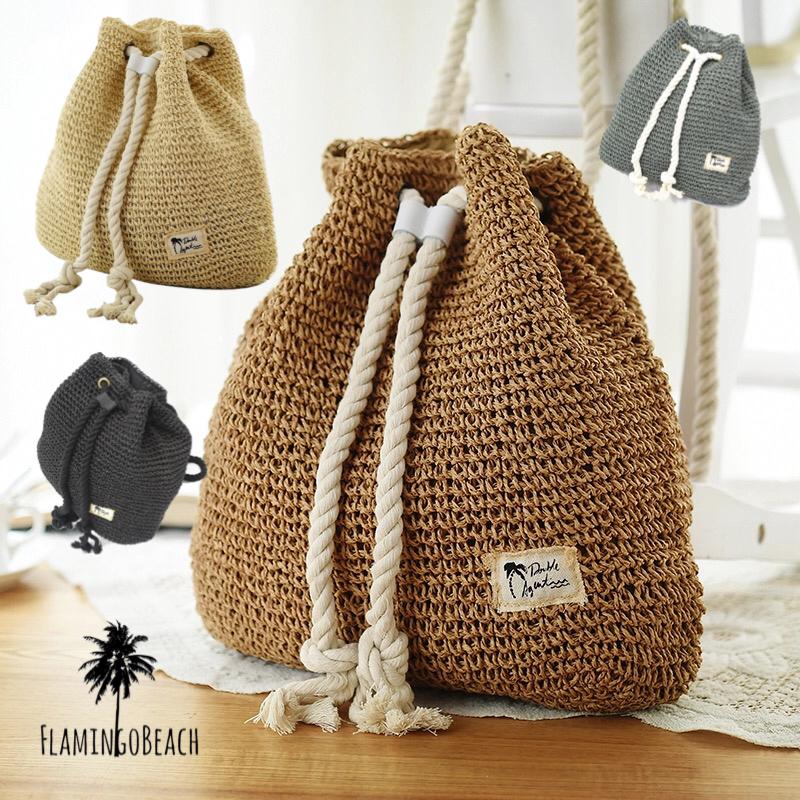 【FlamingoBeach】straw backpack ストローリュック