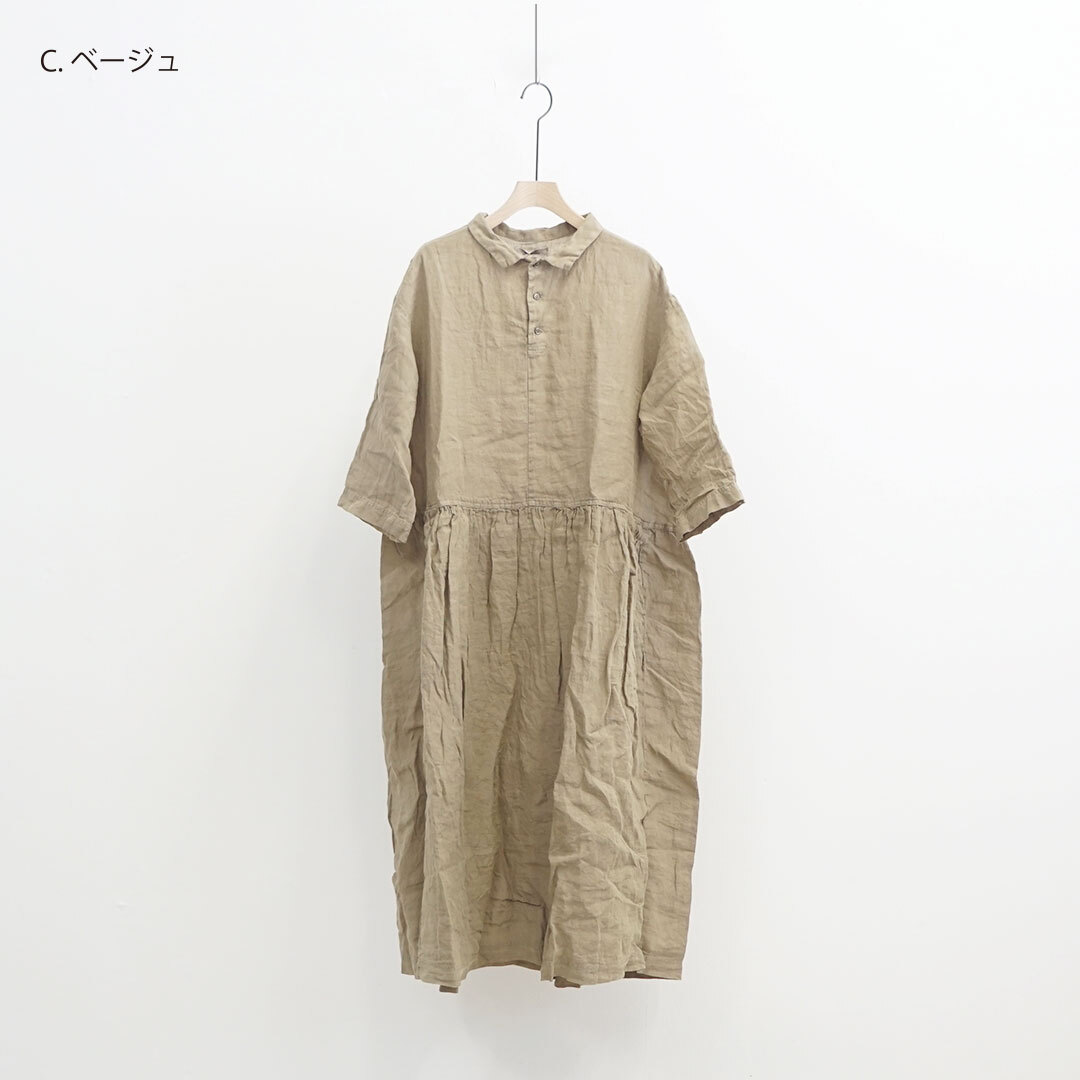 ICHIAntiquites イチアンティークス LINEN SULFIDE DYE DRESS リネン硫化染めワンピース (品番600115)