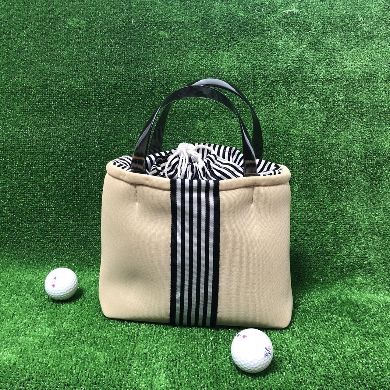 【新商品】ゴルフカートバッグ(ベージュストライプ)