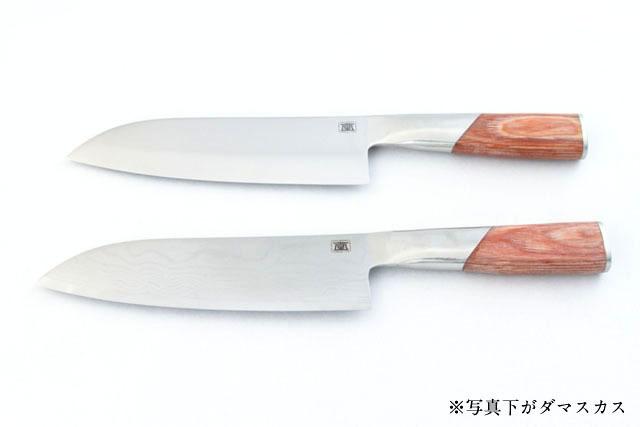 包丁 無垢 三徳170mm ダマスカス