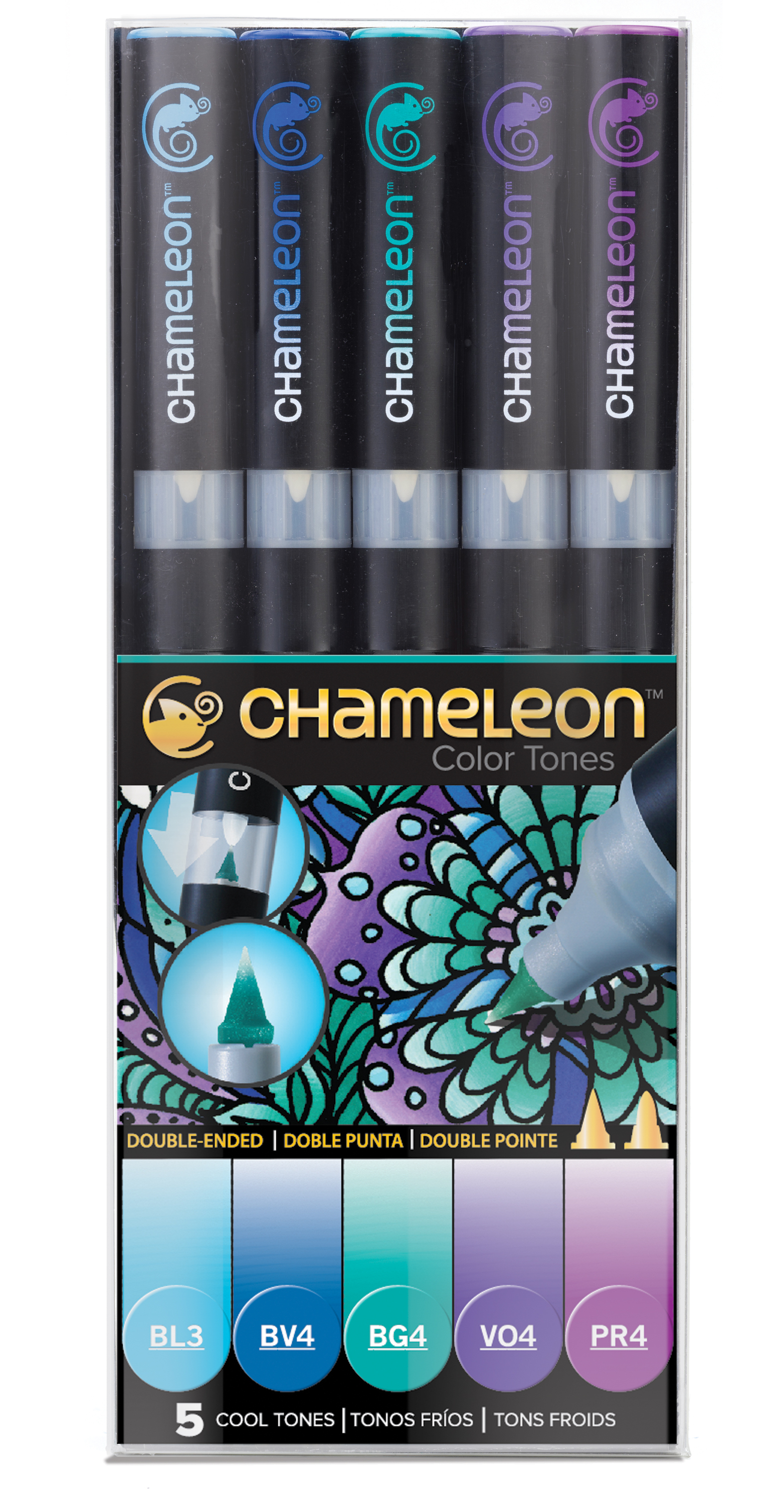 Chameleon Pen 5 Pen Cool Set (カメレオンペン 5本入りクールセット)