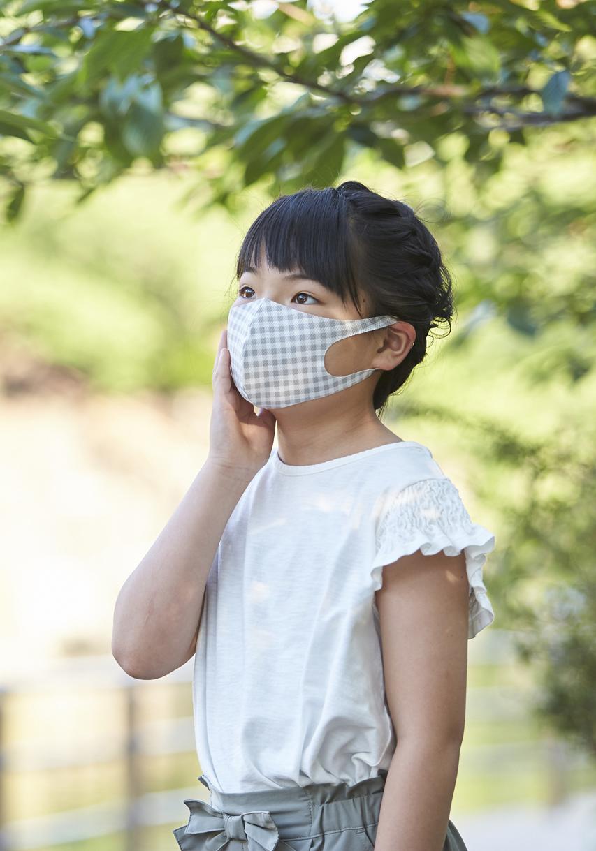 ご要望多数!限定数再販 メッシュ「クール♥」新柄マスク SSサイズ 2枚セット  接触冷感・UVカット・吸汗速乾  #113