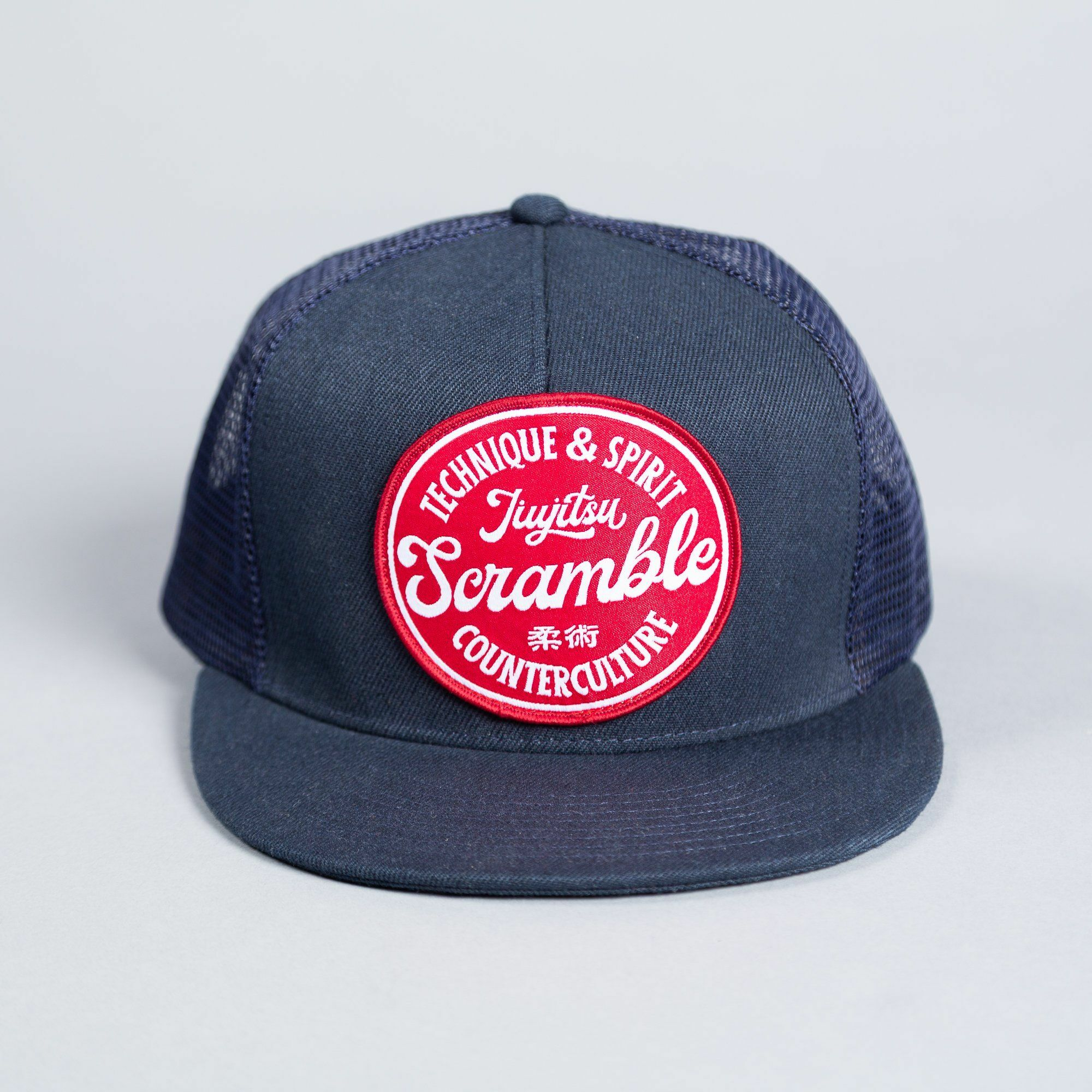 SCRAMBLE TECHNIQUE & SPIRIT TRUCKER HAT – ネイヴィー|帽子