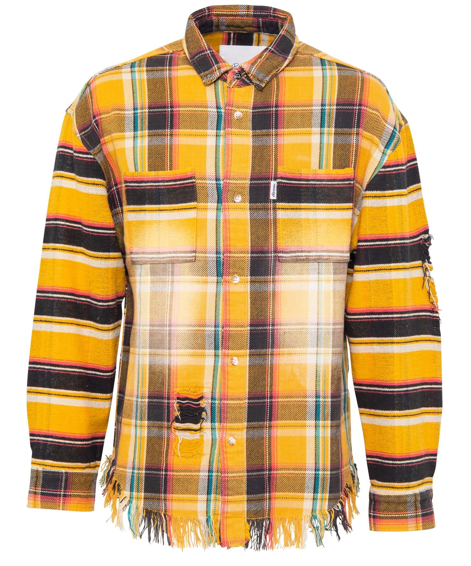 VINTAGE SWITCH CHECK BIG FLANNEL SHIRTS[RES033]