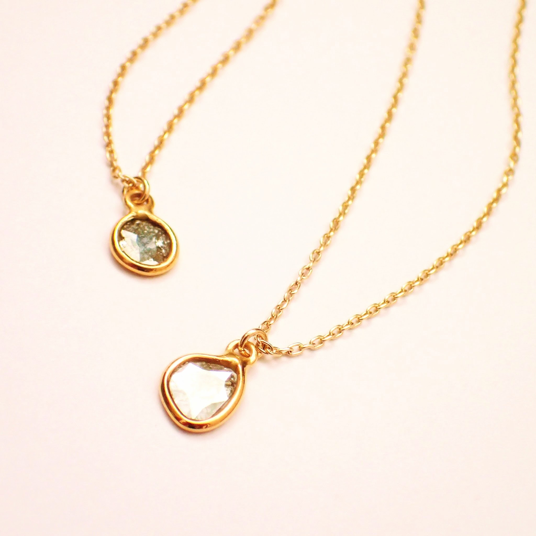 k18 原石 ダイヤモンド ネックレス