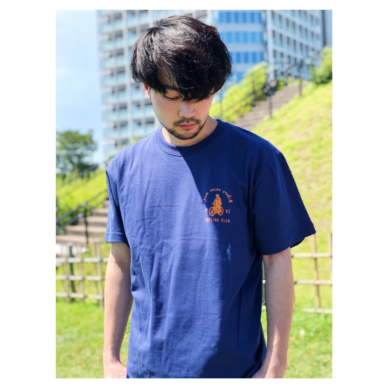 Cycling Club Tee-ネイビー