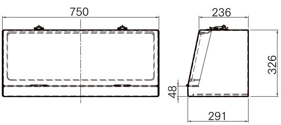 FRP工具箱【NPF-750B 白】