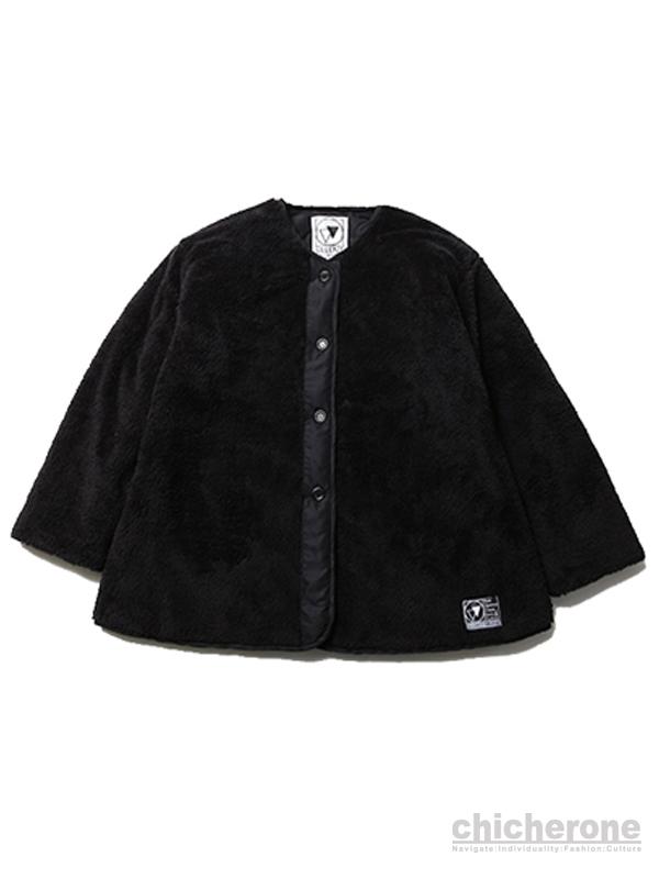 【SILLENT FROM ME】GEMINAL -Reversible Boa Jacket-BLACK