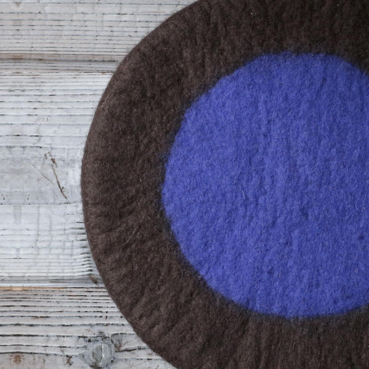 羊毛100%のチェアパッド / モンゴル
