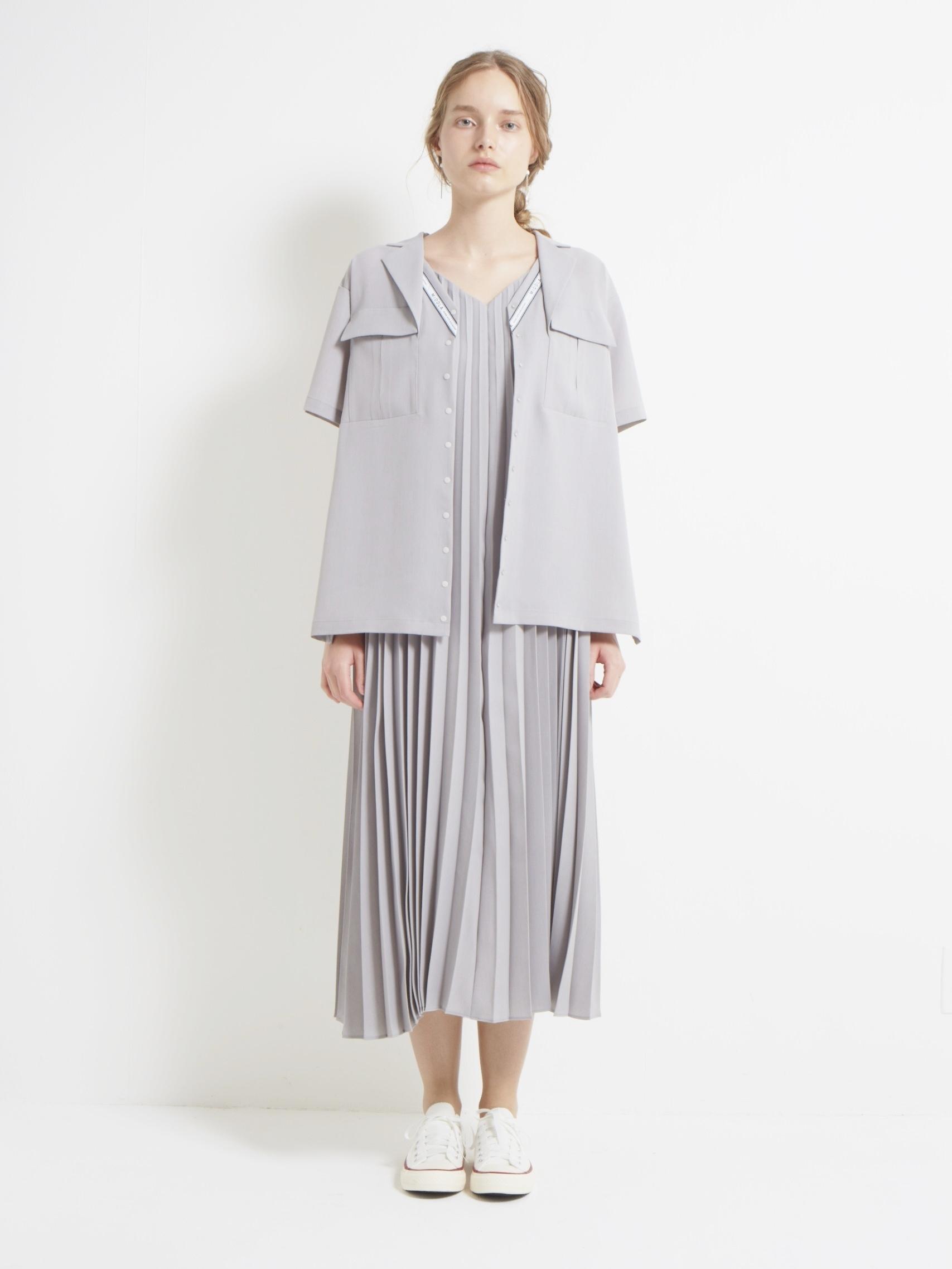 RELAX TWILL PLEATS CAMISOLE DRESS