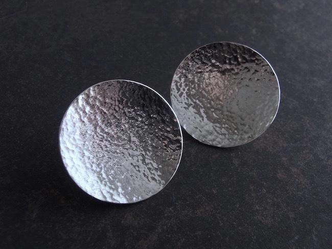 Pure Silver Full Moon/ 純銀の満月ピアス(Sサイズ・ペア)