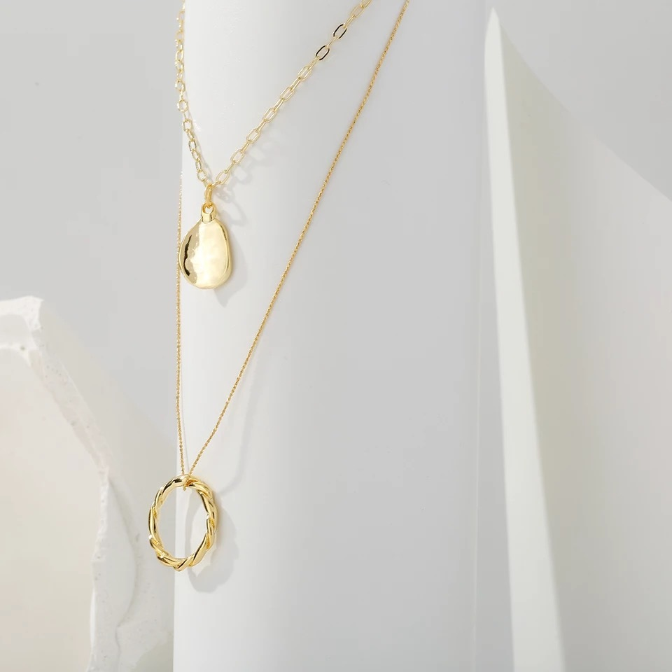 layered ring necklace