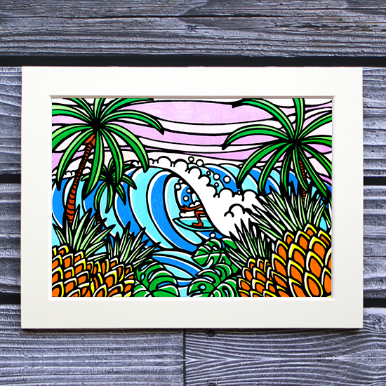 TAMO アートプリント 260×348mm(Pineapple Surf)
