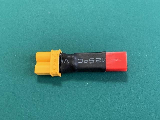 ◆2S 7.4V  Lipoバッテリ アダプタ コネクタ ◆Amass XT30メス⇔JSTオスプラグ 1個