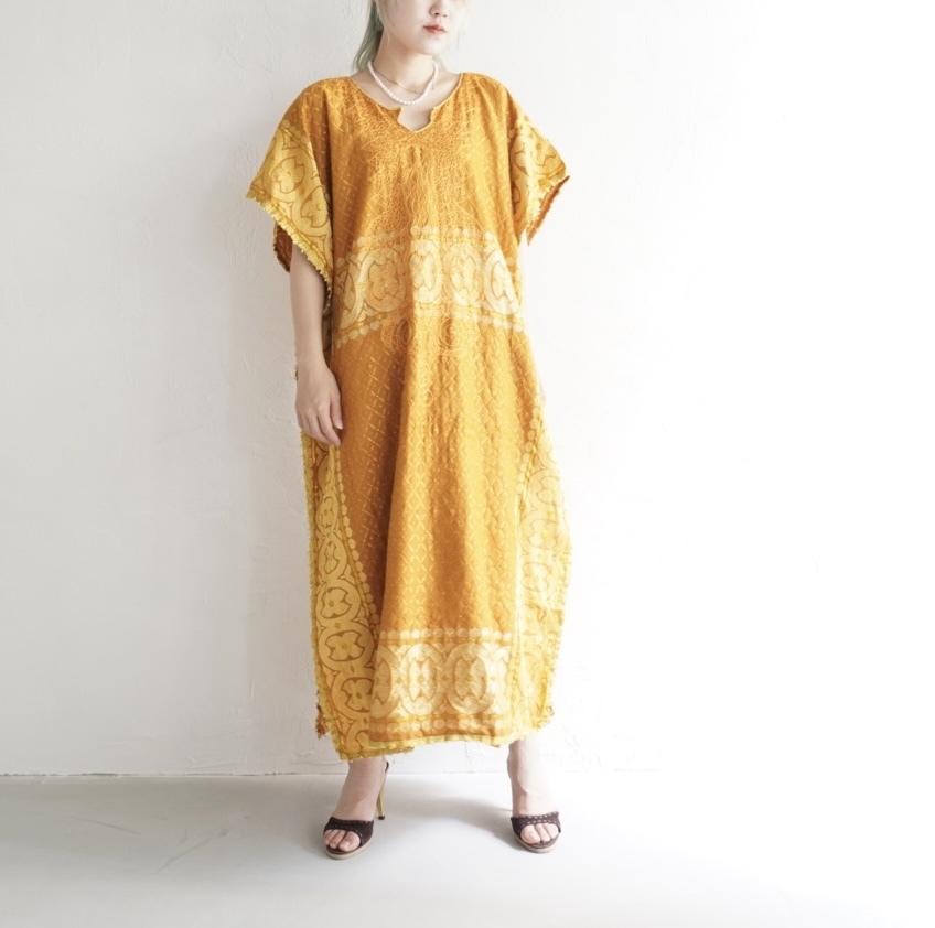 the african village vintage dress