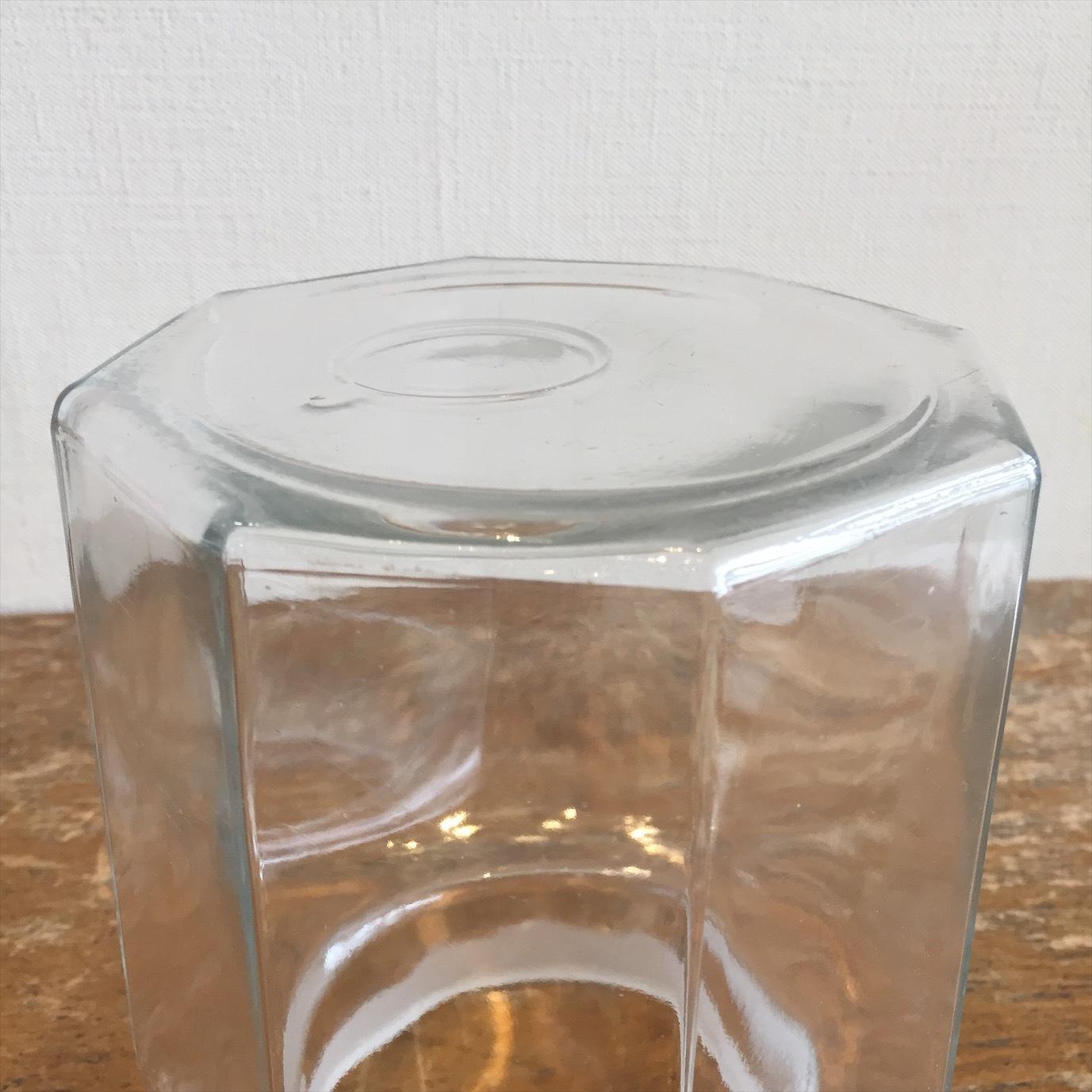 八角ガラス瓶