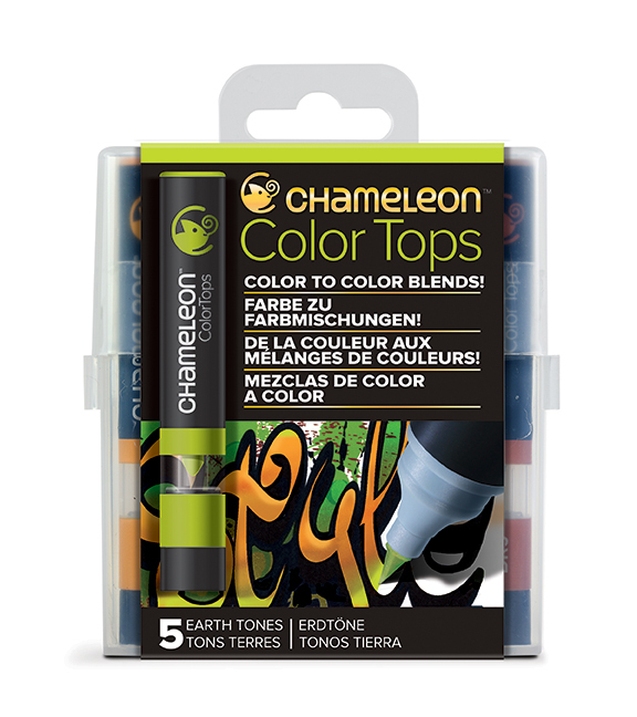 Chameleon Pen 5 Color Tops Earth Set (カメレオンペン 5本入りカラートップ アースセット)