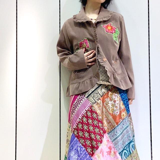 drm-064 花刺繍とフリルのスプリングジャケット