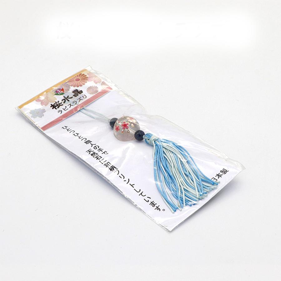 【幸運の象徴】開運☆天然石☆桜水晶ストラップ・ラピスラズリ