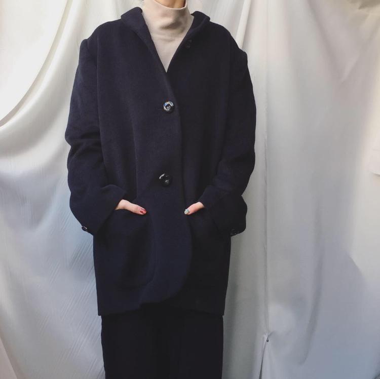 vintage angola wool coat