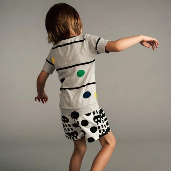 Kids case ドット ボーダーTシャツ ( 98,110)