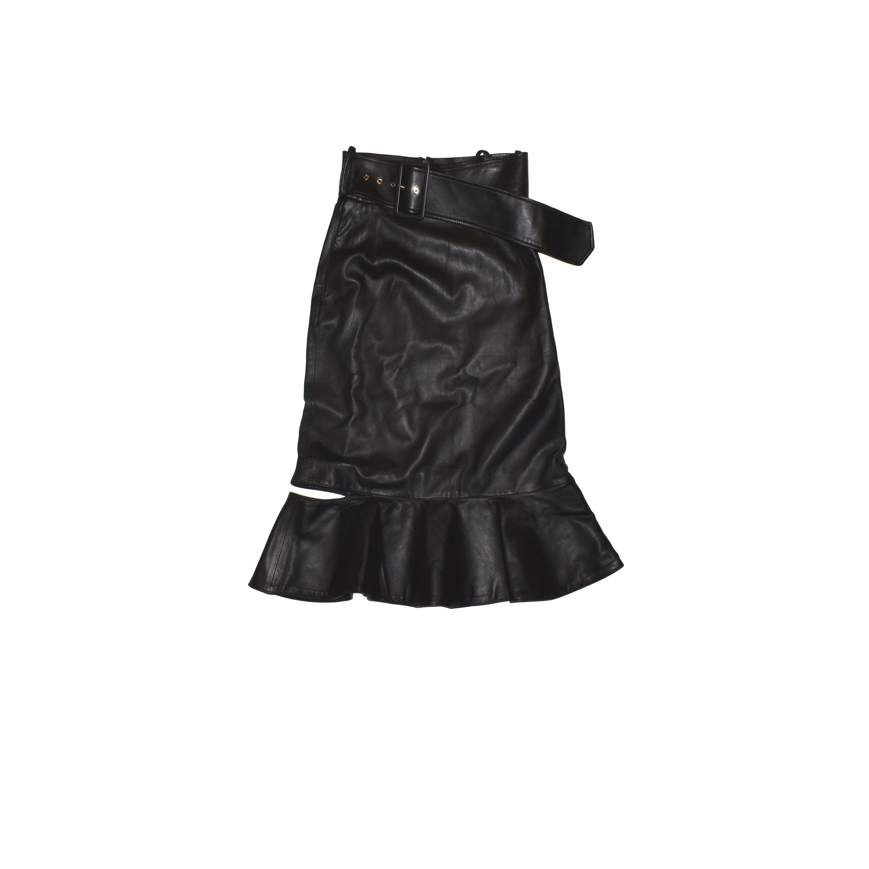 Rokh Leather Skirt