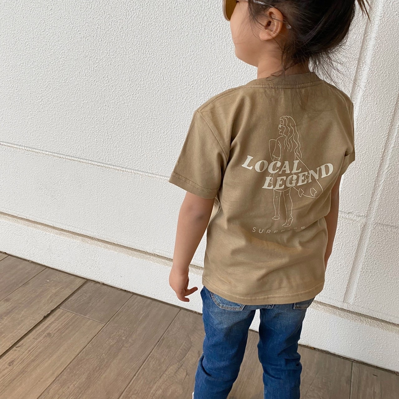 ★Kids★ LOCAL LEGEND Tee - Sand khaki
