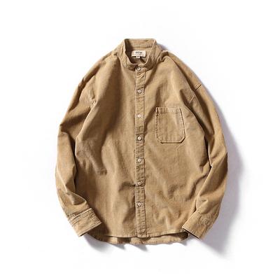 【MEN'S】コーデュロイ カジュアル カラーシャツ【4colors】