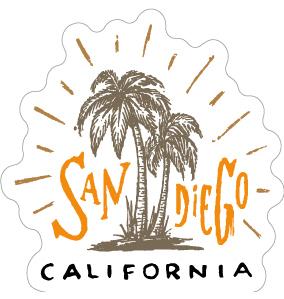 """062 いい街ですサンディエゴ """"California Market Center"""" アメリカンステッカー スーツケース シール"""