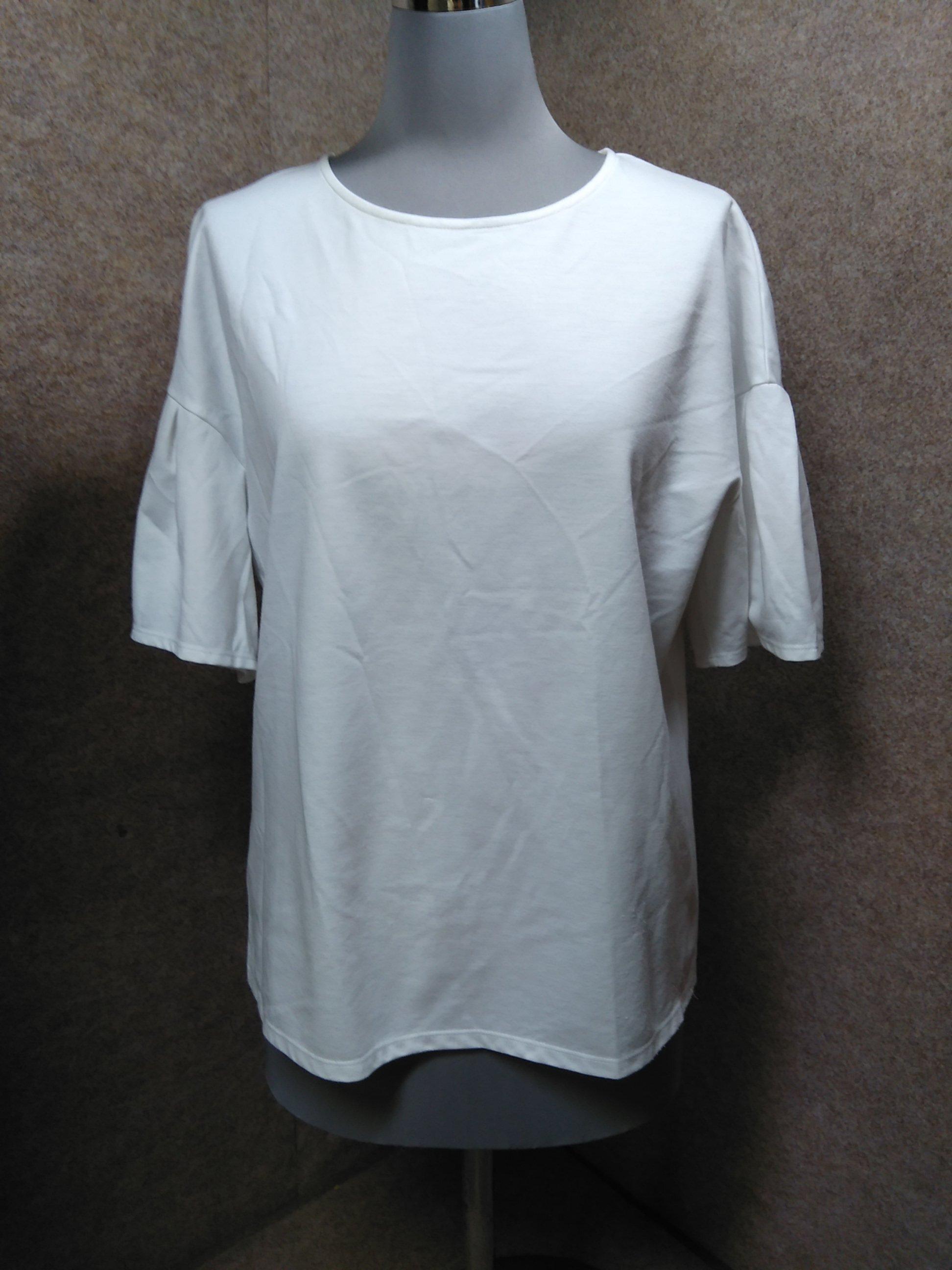 23区 Tシャツ カットソー 38 白 袖フレア u1091c