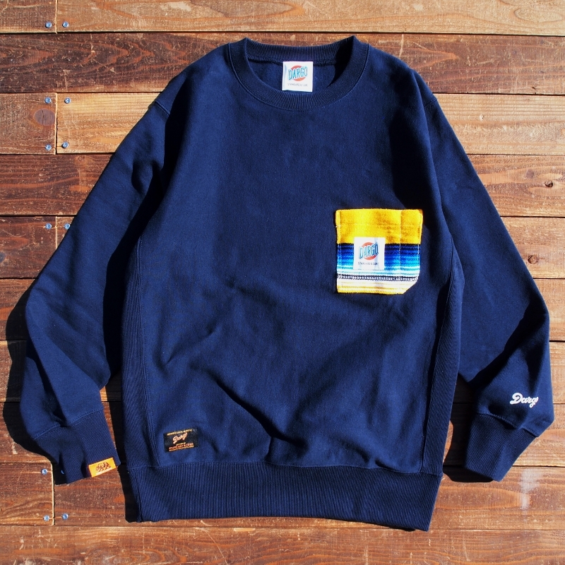 【DARGO】Working Pocket Heavy Weight Sweat Shirt (MEXICAN SERAPES / NAVY)