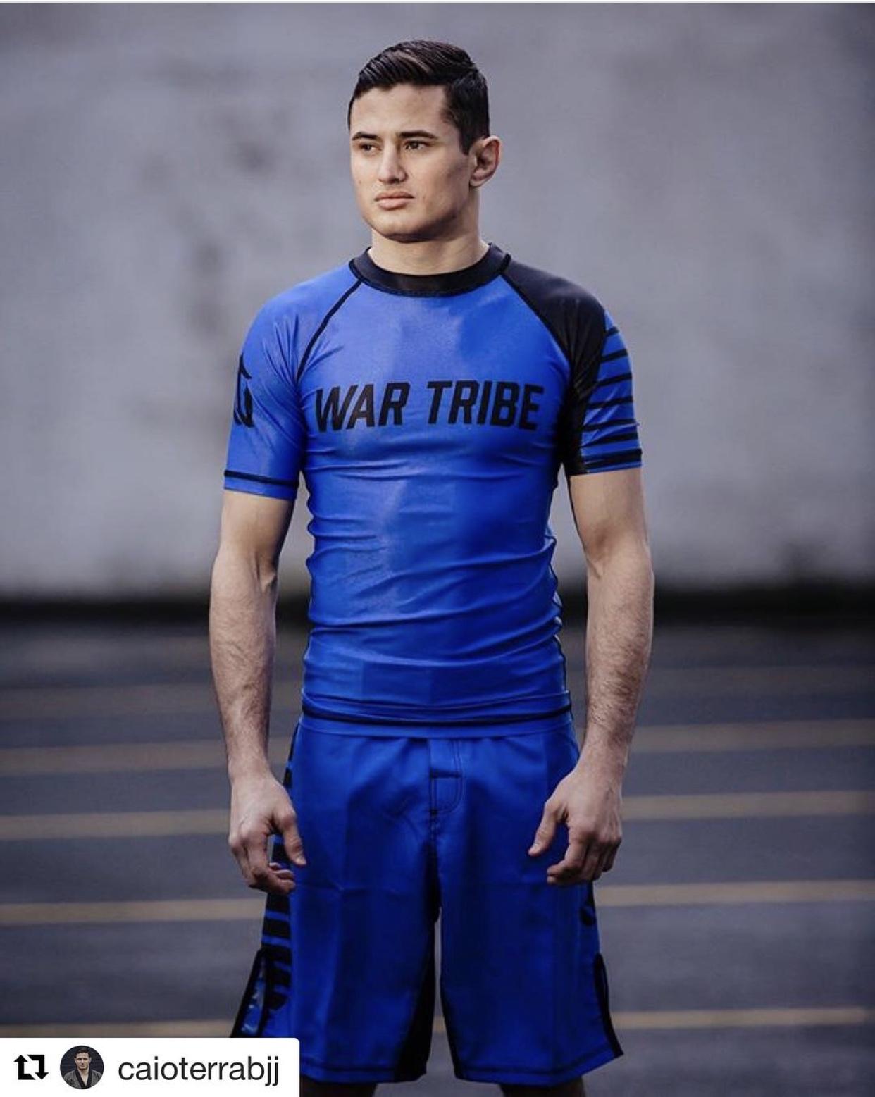 WAR TRIBE GEAR  BALANCE ラッシュガード 半袖 ブルー