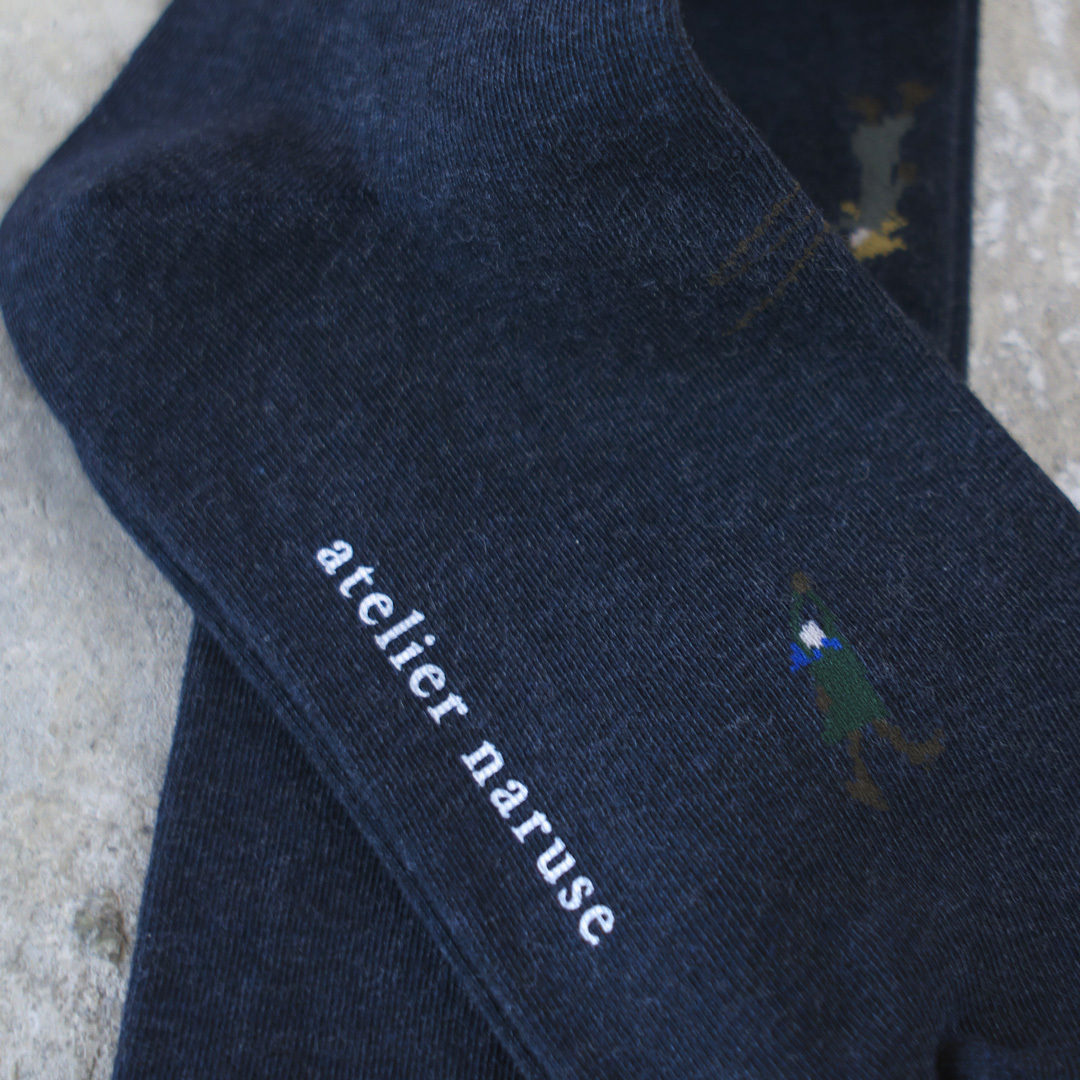 atelier naruse アトリエナルセ コットン どこか遠い国の冬の朝 ハイソックス