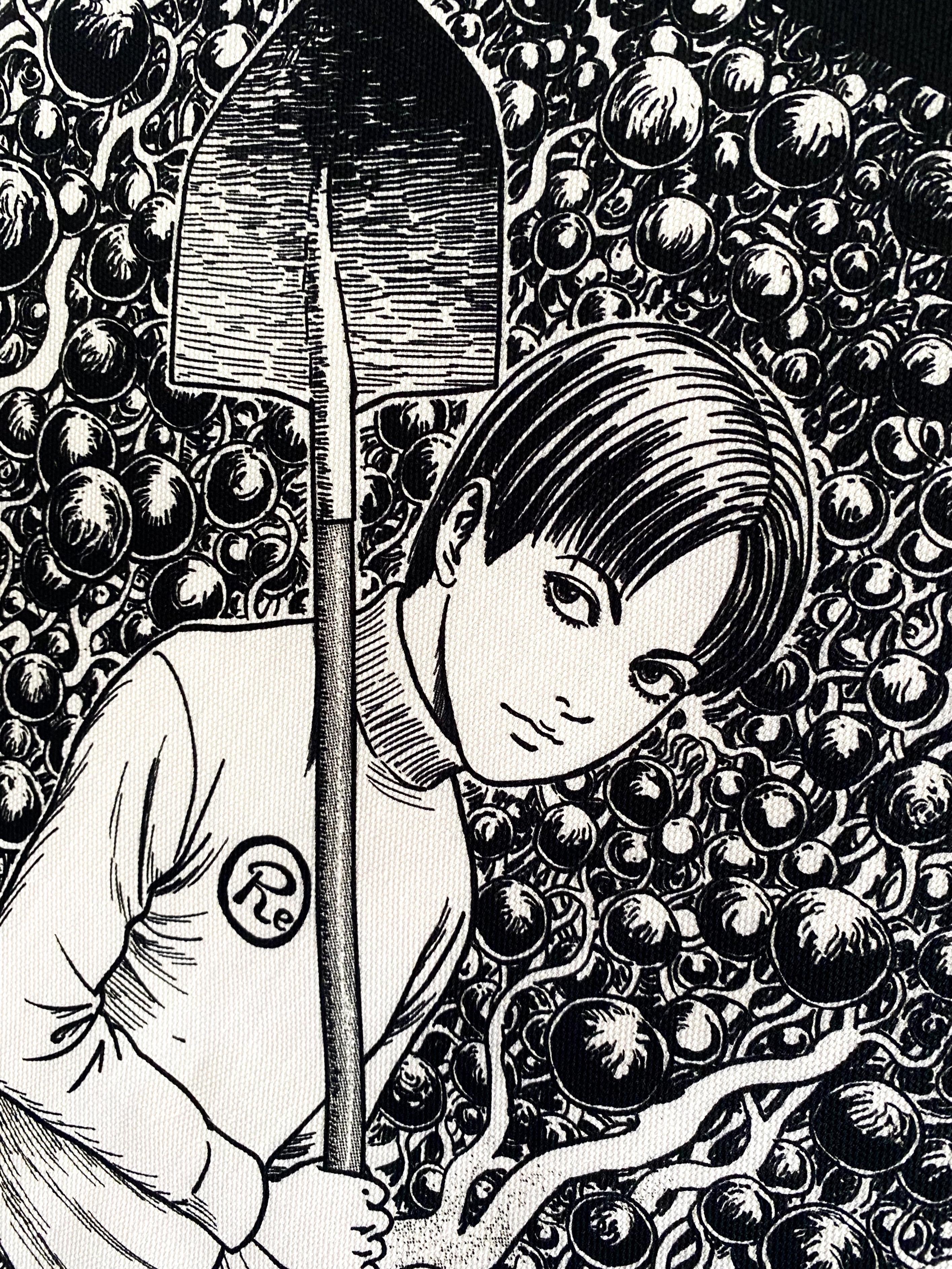 〈伊藤 潤二 描き下ろし〉血玉樹園-押切異談- タペストリー(両面プリント)