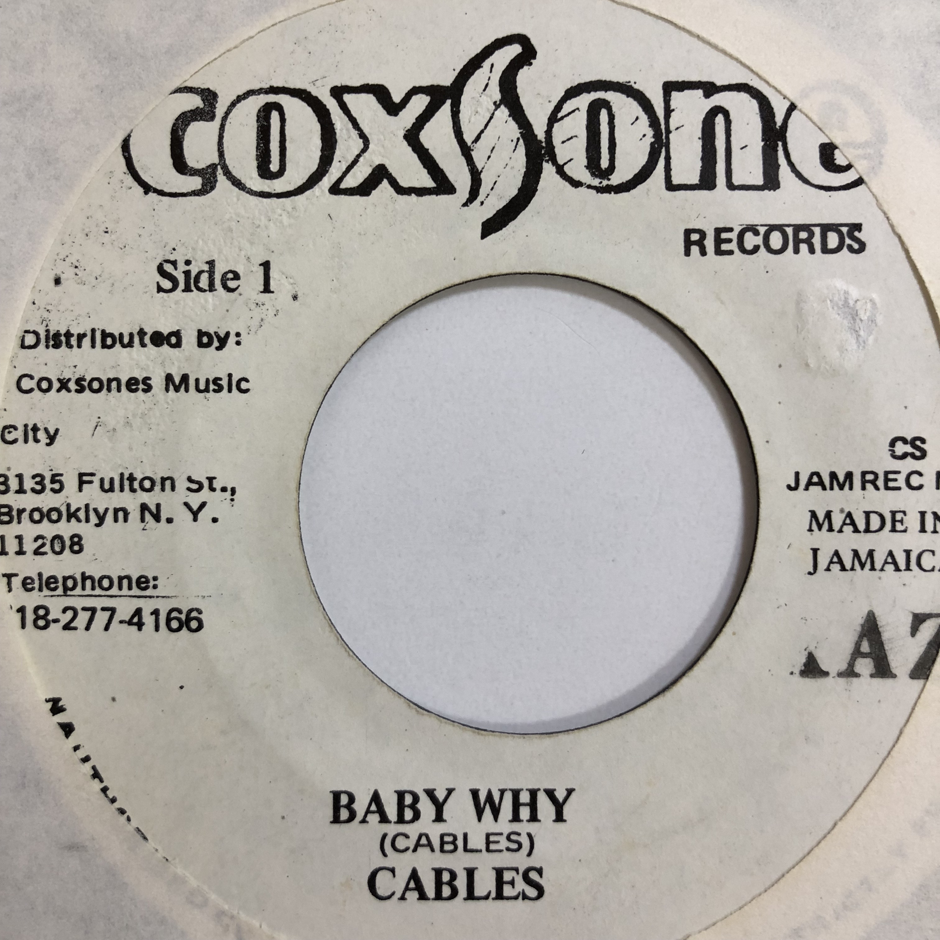 Cables(ケーブルス) - Baby Why【7'】