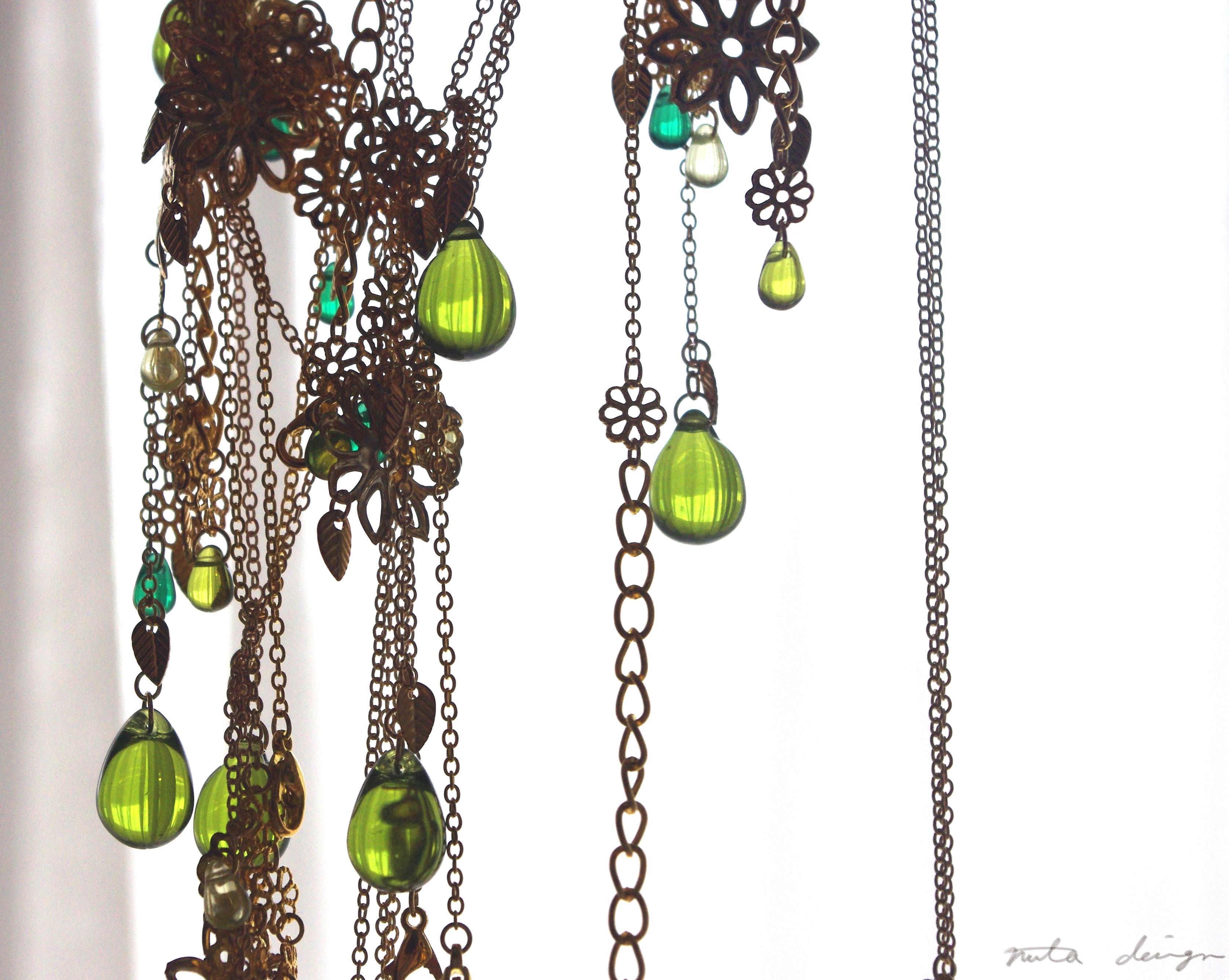ネックレス「翠陰の憩」