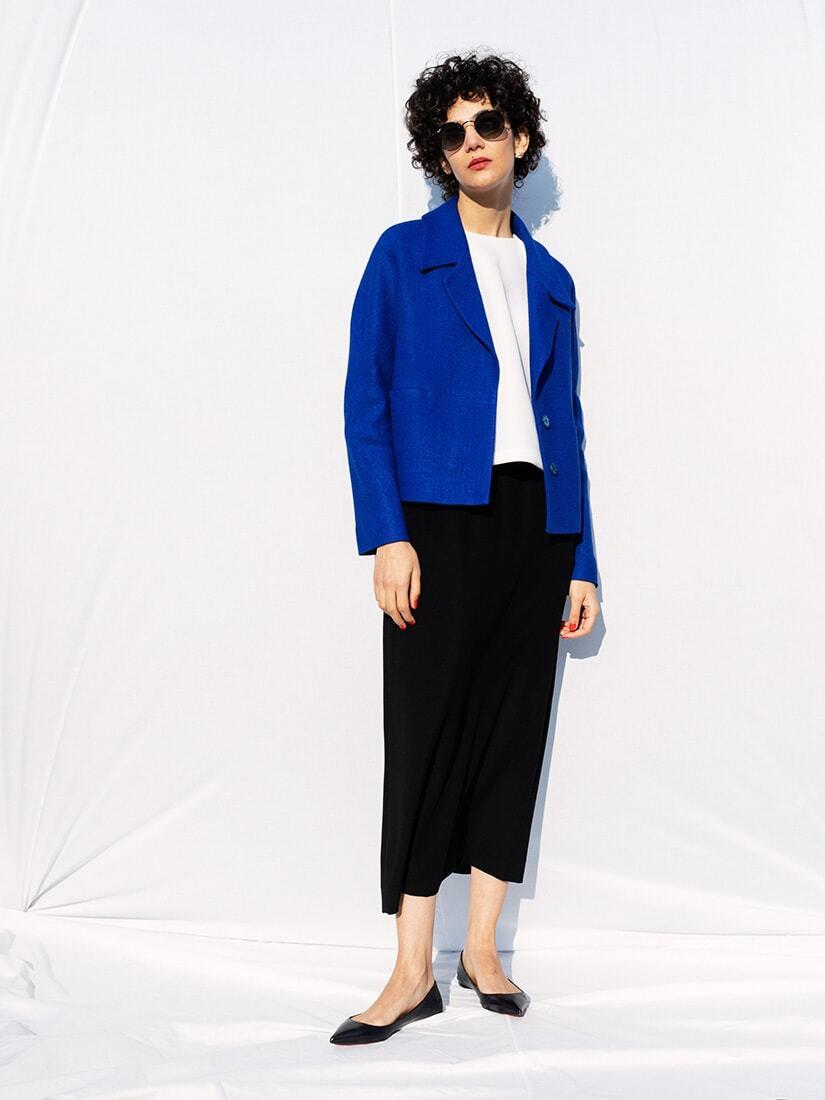 blue spring jacket