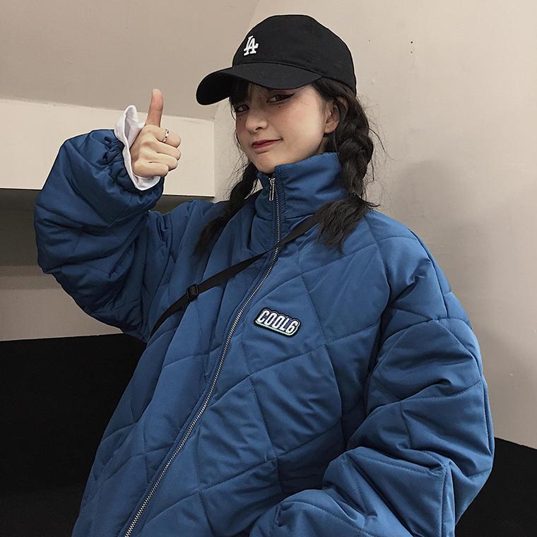 【送料無料】 メンズも着れる♡ メンズライク ハイネック スタンドカラー プルオーバー キルティング ブルゾン ジャケット