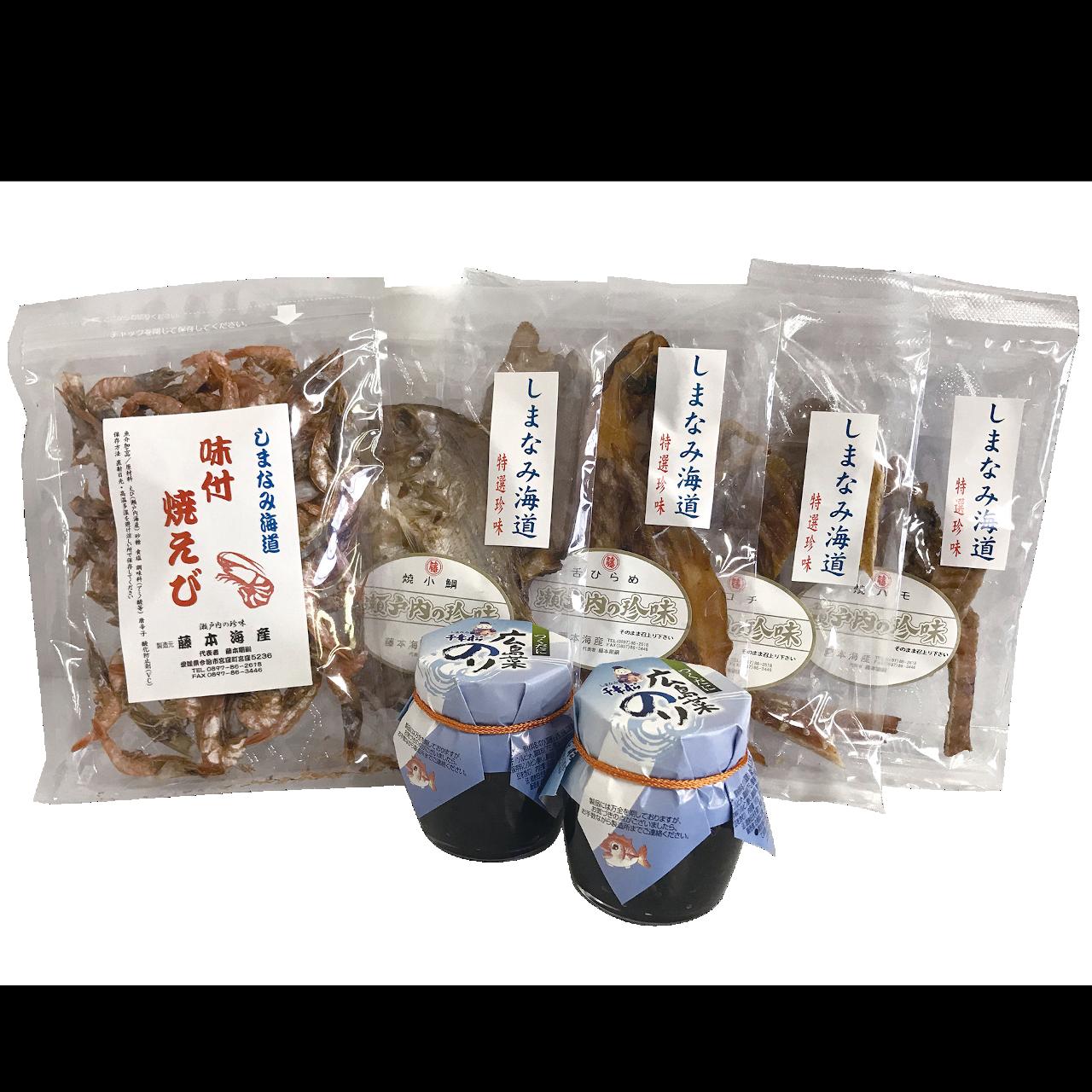 SH-6 手しごと海産珍味・広島菜のりセット