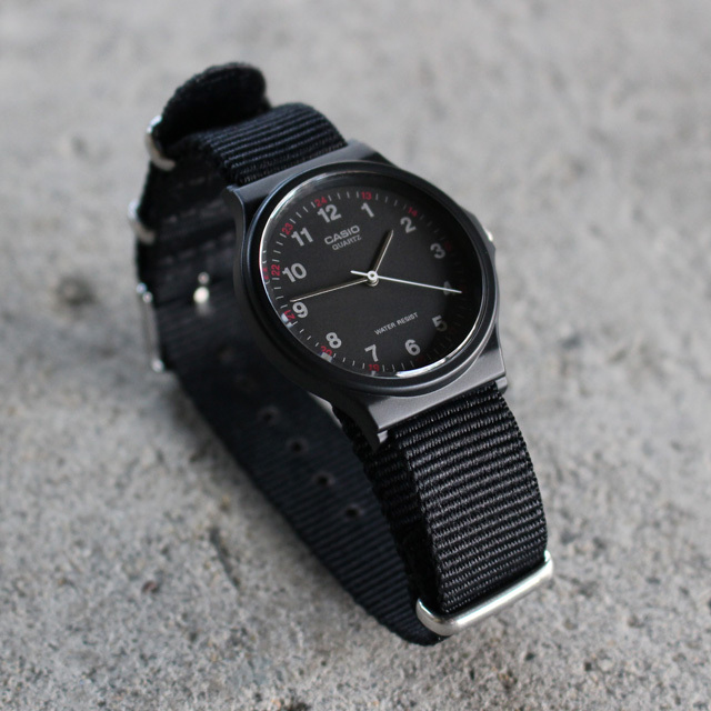 Free shipping NOW!! / CASIO BASIC WATCH 02 / NATO-type Strap