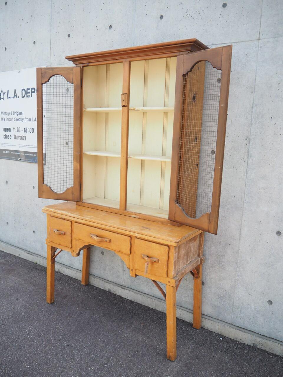 品番0300 木製 キャビネット テーブル ナチュラル アンティーク 家具 011