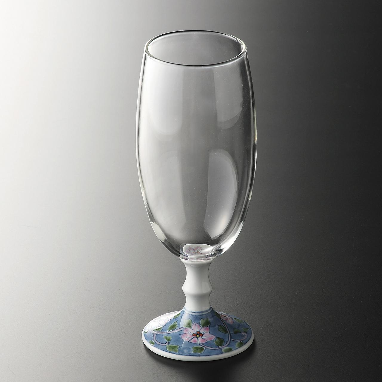ビールグラス (鉄仙唐草) 20-406